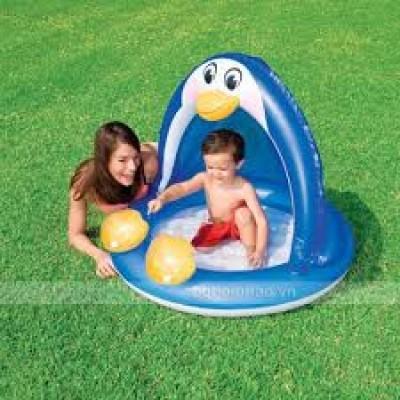 Bể bơi phao hơi có mái che cho bé có hình thú